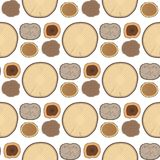 Tree wood trunk slice texture circle cut wooden raw material vector detail plant years history textured rough forest. Circular tree trunk growth environment royalty free illustration
