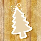 Tree on wooden background. + EPS8. Vector file Vector Illustration