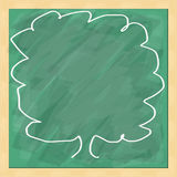 Tree write on blackboard Stock Images