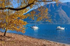 Lake Maggiore in autumn. royalty free stock images