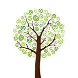 Tree4. Vector illustration of a tree Stock Photography
