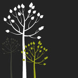 Tree6 abstrato ilustração stock