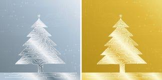 Treee do Natal, vetor Fotografia de Stock Royalty Free