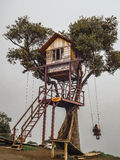 Treehouse Banos Ecuador. BANOS, ECUADOR, OCTOBER - 2015 - Treeehouse, a touristic spot place at top of  hill in Banos, Ecuador, South America Royalty Free Stock Image