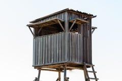 Treehouse voor jonge geitjes Theater, op witte achtergrond stock afbeeldingen