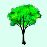 Treeillustration Arkivfoto
