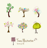 Treekonstillustrationer Royaltyfri Illustrationer