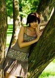 treekvinna Arkivfoton