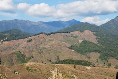 Treeless mountain. At Nan province Stock Photo