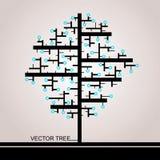 Treen av rektanglar stock illustrationer