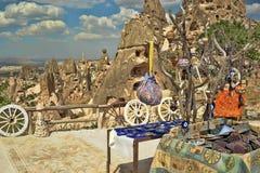 Treen och ondskan eye amuletten i Cappadocia Turkiet Arkivbild