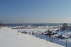 Treenighet- och Vyatskoe bosättning i Cherdyn Ryssland Arkivfoton