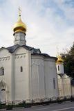 Treenighet Sergius Lavra i Ryssland Arkivbilder