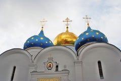 Treenighet Sergius Lavra i Ryssland kyrklig dormition Fotografering för Bildbyråer