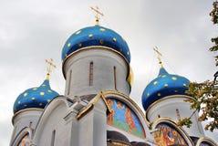 Treenighet Sergius Lavra i Ryssland kyrklig dormition Arkivbilder