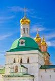 Treenighet Sergius Lavra i Sergiev Posad - Ryssland Fotografering för Bildbyråer