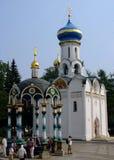 Treenighet-St Sergius Lavra i Sergiev Posad royaltyfria bilder