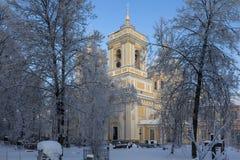 Treenighetdomkyrka av Alexander Nevsky Lavra St Petersburg Ryssland Royaltyfri Bild