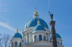Treenighetdomkyrka, St Petersburg i St Petersburg royaltyfria foton