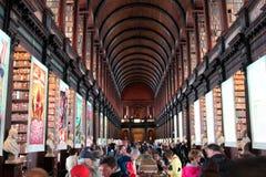 Treenighethögskolaarkiv Dublin Ireland Royaltyfria Foton