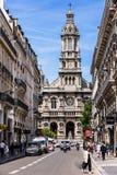 Treenighetkyrka Eglise de la Sainte-Trinite france paris arkivbilder