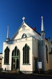 Treenighetmetodistkyrka på Clive Square Gardens, Napier, Nya Zeeland Royaltyfria Bilder