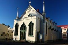 Treenighetmetodistkyrka på Clive Square Gardens, Napier, Nya Zeeland Royaltyfria Foton