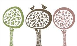 Trees. Vector illustration of three trees Royalty Free Stock Image