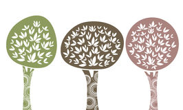 Trees. Vector illustration of three trees Royalty Free Stock Images