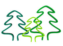 Trees. The illustration of green trees Stock Photo