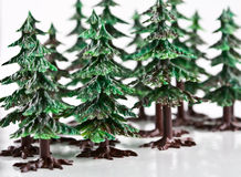 Trees. Trees on the white background Stock Photography