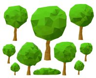 Trees 3d imitation . Vector illustration. Set of trees 3d imitation . Vector illustration Stock Image
