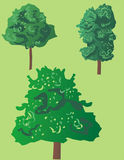 Trees. Generic trees composition Royalty Free Illustration