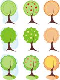 Trees. Symbolic image of trees to design, icons vector illustration