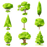 Trees abstract pictograms set Royalty Free Stock Image
