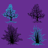Trees abstraction EPS 10. Four trees abstraktsionnoe  image Stock Photo