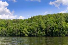 Trees along the shore of Lake Marburg, at Codorus State Park, Pennsylvania. Stock Image