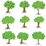 Trees: apple pear plum. Raster #1 Royalty Free Stock Photo