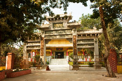 Trees around the buddhist temple in eastern style Royalty Free Stock Photos