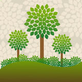 Trees background Royalty Free Stock Image