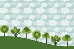 Trees background Royalty Free Stock Photography