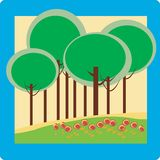 Trees background illustration Royalty Free Stock Images