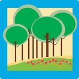 Trees background illustration Royalty Free Stock Images