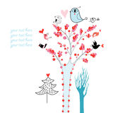 Trees and birds Royalty Free Stock Photos