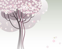 Trees in bloom. Vector illustration of a trees in bloom Royalty Free Stock Photo