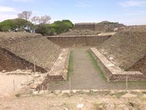 archaeological site, ruins of Monte Alban in Oaxaca, Mexico royalty free stock image