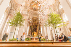 Trees in a church Royalty Free Stock Image