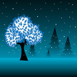 Trees in the cold weather Royalty Free Stock Photos