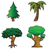 Trees collection Stock Images