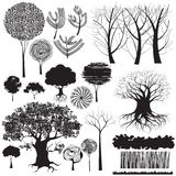 Trees collection Stock Photos